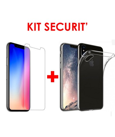 KIT SECURIT' compatible iPhone XS MAX