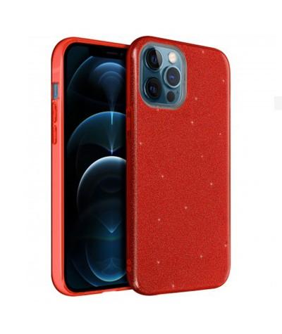 coques triple paillette iphone 12 pro 6.1 red