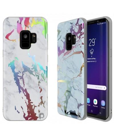 COQUE MARBRE HOLOGRAPHIQUE Samsung S9+